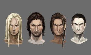 exercise_ male faces and hair by NightmareMoonLuna