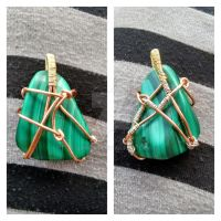 First Wire Wrapped Malachite Pendant by GrimFay