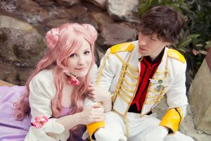 Euphemia and Suzaku II by EnchantedCupcake