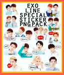 EXO Line Special sticker PNG Pack by kaixsoo