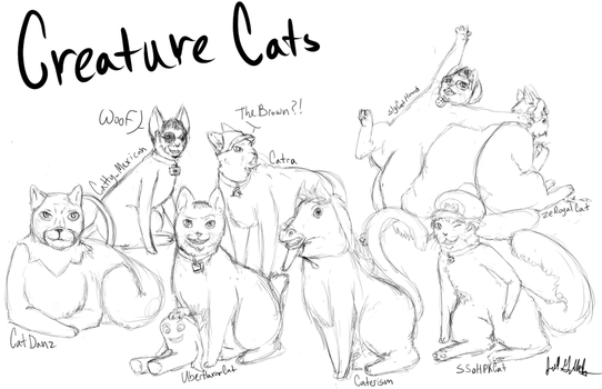 Creature Cats by Jililifish