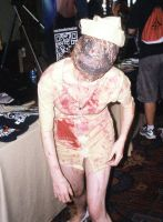 Silent Hill Nurse Handing out Pamphlets- Akon 24 by Mdragonflame