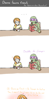 Donnie learns french... by Neko-mirichan