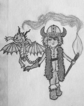 Hiccup Horrendous Haddock III and Toothless by FIRNENxSAPHIRA