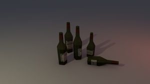 Low poly bottles (empty) by lithium-sound