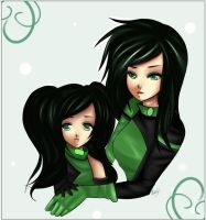 Bloom and Shego by vanilla-tea