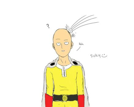 Saitama Colored by Suky-Kim