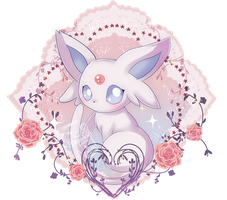 Commission #3 - Espeon by Ayasal