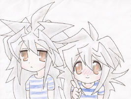 Bakura and Ryou Chibis by CookieRansacked
