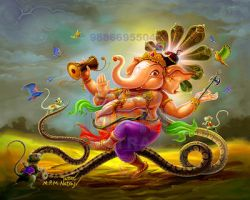 Dancing  Ganesh by thandav