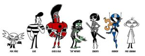 Characters for 'Elvis' by PacoAfroMonkey