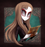 Charlotte Hammer and bloody map by CottonValent