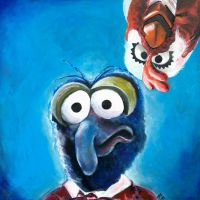 Gonzo and Camilla the Chicken Muppets by ckrickett