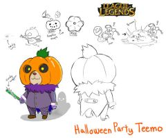 Halloween Party Teemo by KindCoffee