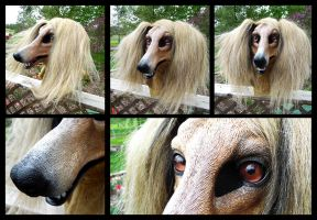 Celine Saluki Mask by KandorinCreations