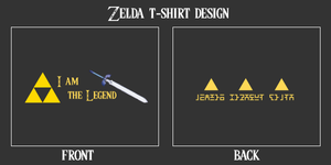 Zelda T-Shirt Design by XINVADER