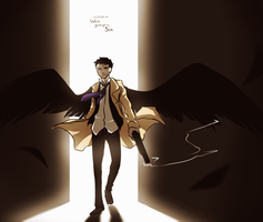 An angel with a shotgun. by L0UDST