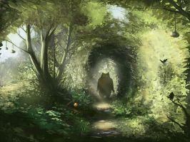 along the path by grim-green