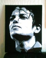Michael Jackson Pop Art Canvas by covtown31