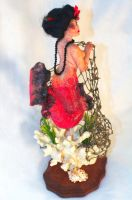 one of a kind Geisha Mermaid by incantostudios