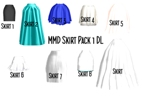 MMD Skirt Pack 1 DL by 2234083174