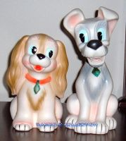 Lady and the Tramp Spanish squeak toys by RakikoHime