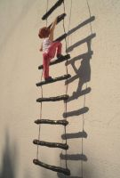 Girl on the ladder by aakritiarts