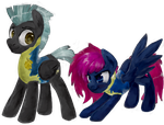 Thunderlane and Lare (Commission) by ToisaNeMoifs
