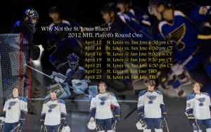St. Louis Blues 2012 Playoffs Round One Schedule by RealBadRobot