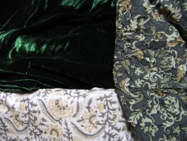 Fabric for Eowyn's Green gown by ThreeRingCinema