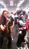 Gokai Red and Adam MMPR movie version Ny Comic con by Raded-Raikage