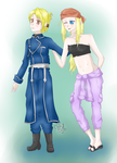 [C]Winry and Riza by bakkeneko