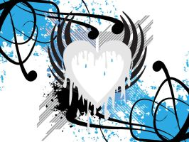 Liquid Blue Heart by drg