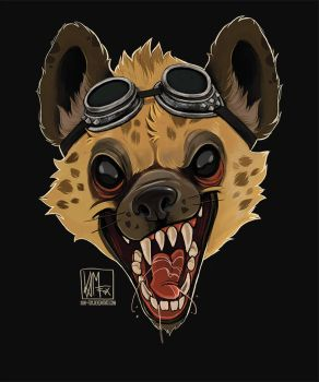 Another hyena by Kam-Fox