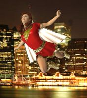Mary Marvel First Flight by DrMcQuark