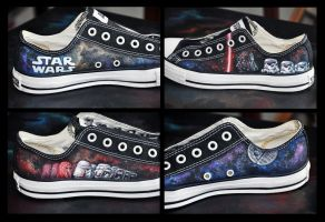 Star Wars Shoes by TrappedinVacancy