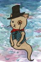 Steam Punk Ghost Cat by CrueTragedia