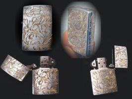 Engraved Zippo by Woolf20