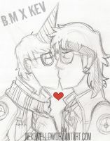 Death Run Kisses - TF2 Sketch by NekoMellow