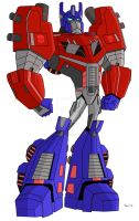 Animated Optimus Prime-Fall of Cybertron by TylerMirage