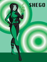 Kim Possible's Shego by DrasticAction
