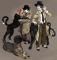 Hellhounds n Zombie Ghosts by Kinn-Katze