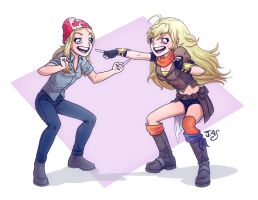 Mirror Mirror: Yang and Barb by TheRogueSPiDER