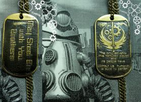 Fallout Brotherhood of Steel dog tag by TimforShade