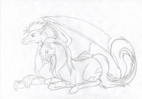 Stay awake for you -outlines- by Ladyhorse