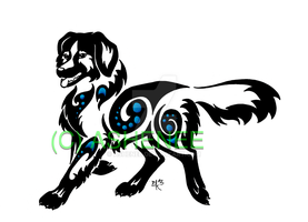 ::nova scotia duck tolling retriever tribal:: by Ashenee