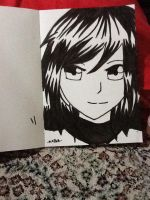 the potrait of meh by AzuAcaa