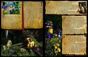 First 2 pages from Book 2 of A Querulous Quest by struckdumb