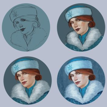 Cerys Snow progress by TanyaGreece