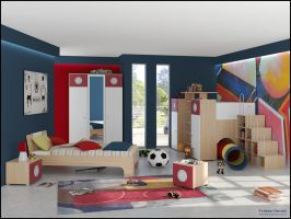 3D Bedroom 10 by FEG